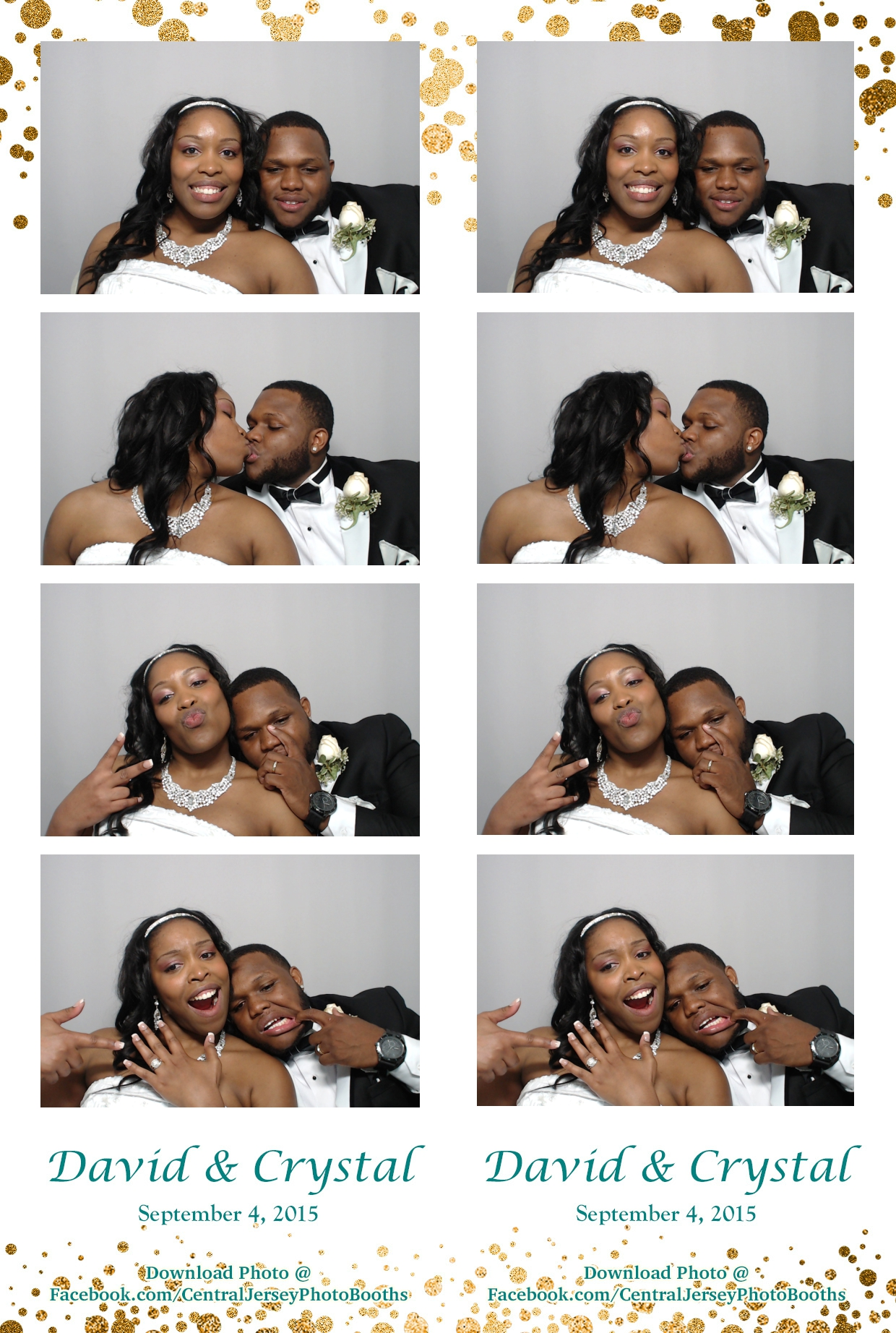 Central New Jersey photo booth prints